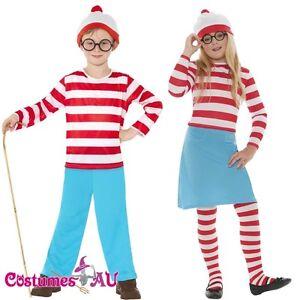 Kids Wenda Waldo Wheres Wally Costume Girls Boys Wheres Book Week