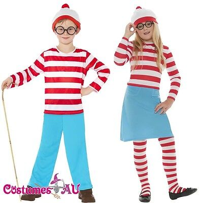 Boys Girls Wheres Wally hat Book Week