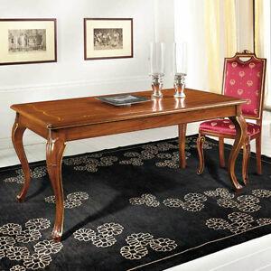 Dettagli su Tavolo Neoclassico allungabile, L180 P90 H80 Tavoli mobili  classici in stile