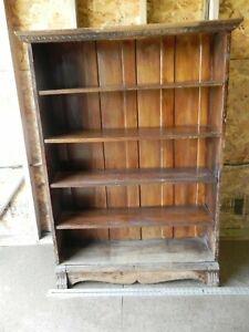 Details About C 1910 Larkin Quartered Mission Oak Bookcase Book Shelf Cabinet Missing Doors