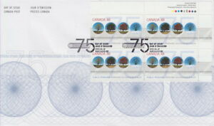 CANADA-1959-48-PUBLIC-PENSIONS-UR-PLATE-BLOCK-FIRST-DAY-COVER