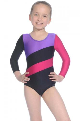 Roch Valley Gymnastics Leotard Long Sleeved Nylon//Lycra Dance Acro Hop