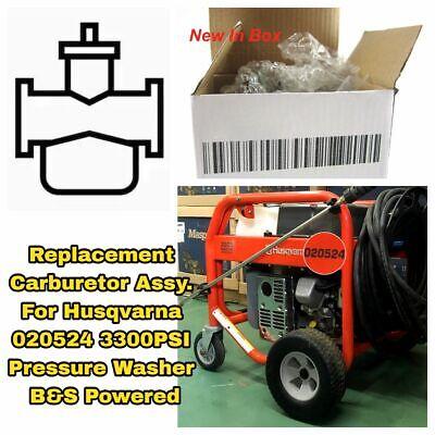 For Husqvarna 020524 3300PSI Pressure Washer B/&S Powered Carburetor Carb Assy