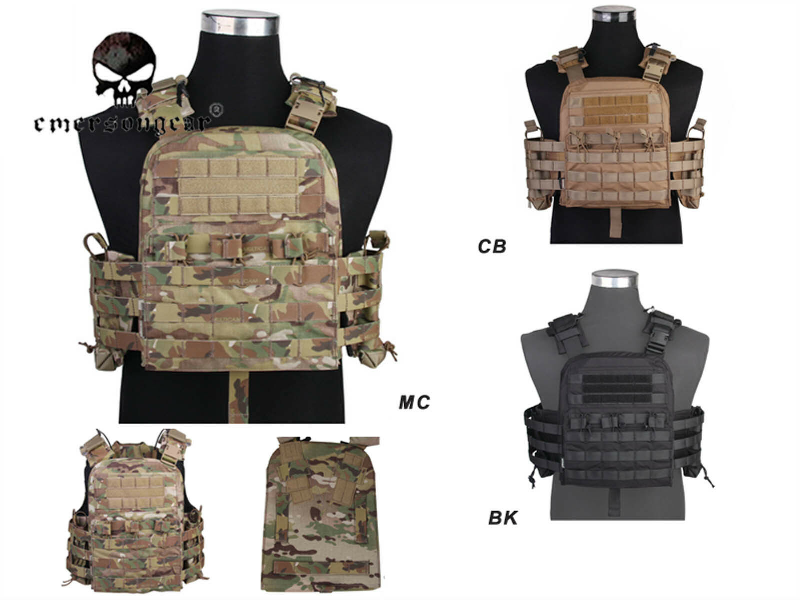 Tactical  Vest EMERSON NCPC CP Style Cherry Plate Carrier Army CORDURA Vest  creative products