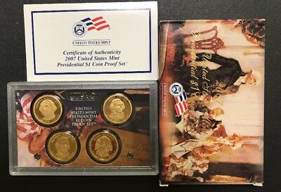 Mint Presidential 1$ Dollar Coin Proof Set Complete With Box /& COA 2007 U.S