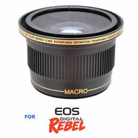 Hd Sports Action Extreme Fisheye Lens For Canon Eos Rebel T1 T2 T3 T4 T5 T6 T3i