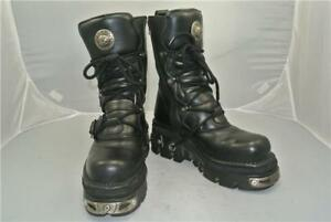 New Uk Zip Black Sole 4 9 Straps Taglia Anatomical Reactor Boots Goth Rock r7wqF8r