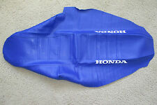 TEAM HONDA  BLUE PLEATED GRIPPER SEAT COVER  CRF450R CRF450 2002 2003 2004