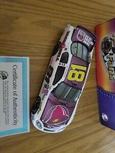 XRARE-1-24-Dale-Earnhardt-Jr-81-TACO-BELL-2004-COLOR-CHROME-DieCast-NASCAR