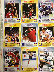 Details About 1996 Tiger Woods Sports Illustrated Kids Rc Rookie Card Sheet Mint 1st Card
