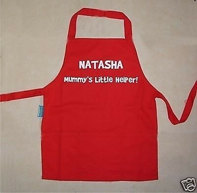 "Infant or Junior Boys//Girls Personalised /""Little Helper/"" Apron Add Name 2 Sizes"