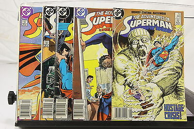 Lot of 5 1980's DC Comic Books The Adventures of Superman #424 425 436 439 443