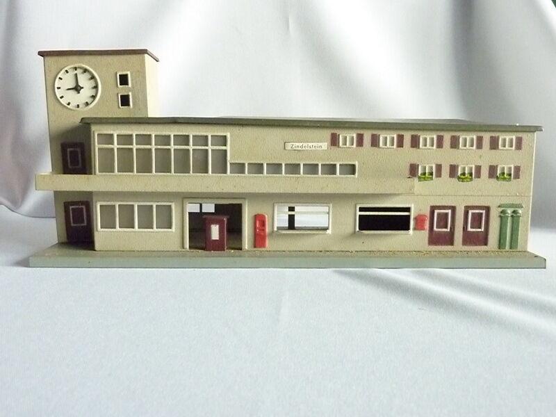 pista h0 418 stazione ferroviaria Porto Friedrich 34x12x14,3cm  bo793