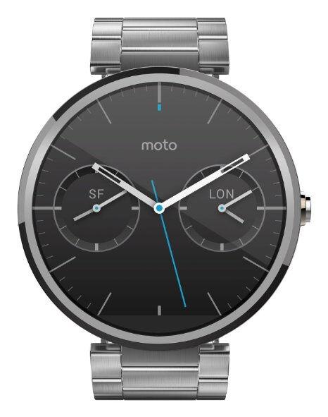 Mint Cosmetic Motorola Moto 360 Stainless Steel Case and Belt Bracelet Silver