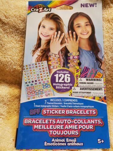 Cra-z-art Includes 126 Holographic Stickers Bff Sticker Bracelets Animal Emoji