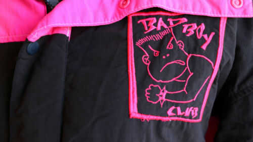 RARE - Vintage Bad Boys Club SNOW JACKET - Neon Pi