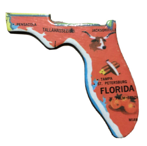 Details about  /1961 FLORIDA Vintage Refrigerator Magnet Kitchen Jacksonville Miami BOGO