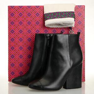 9e0d01d73f28 TORY BURCH Grove 100mm Bootie Boots - Size 5 - Black Calf Leather ...