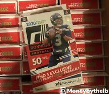 Donruss 2020 Football 50 Cards Pack Hanger Box