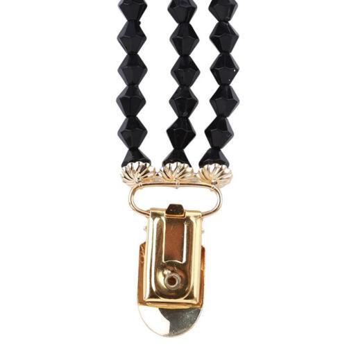 Women Beads Shawl Cardigan Clasp Sweater Duck Clip Blouse Shirt Collar Clasp LC