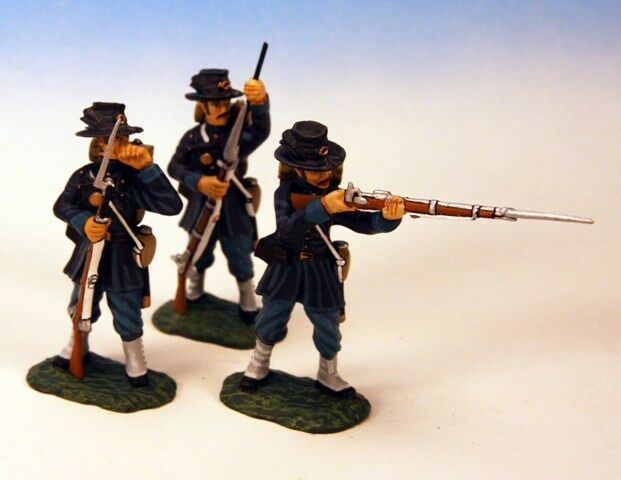 Frontline Figures  AUI.9, Civil War, 6th Wisconsin Regiment,  3 Soldiers