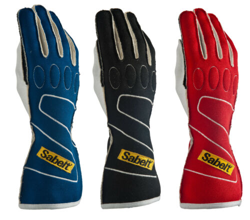 FIA Sabelt Touch E FG-310 Blue Red Racing Rally Gloves CLEARANCE SALE!
