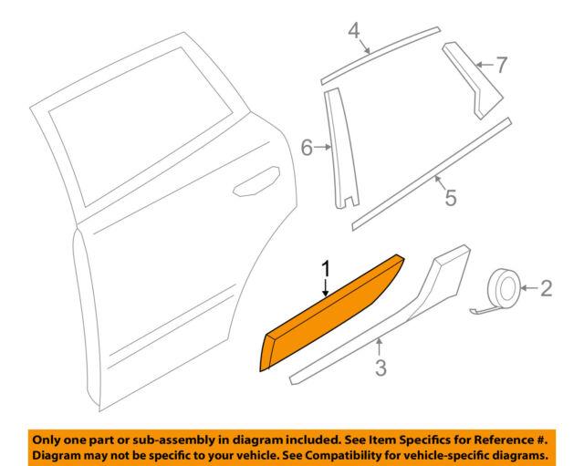 bb1db4ffbc PORSCHE OEM 15-16 Macan Rear Door Body Side-Lower Molding Trim Right  95B898568