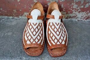 52a8d4723d21 HUARACHES OSCARIA CON CORDONES EN V Y ROMBOS - Mexican sandals men s ...