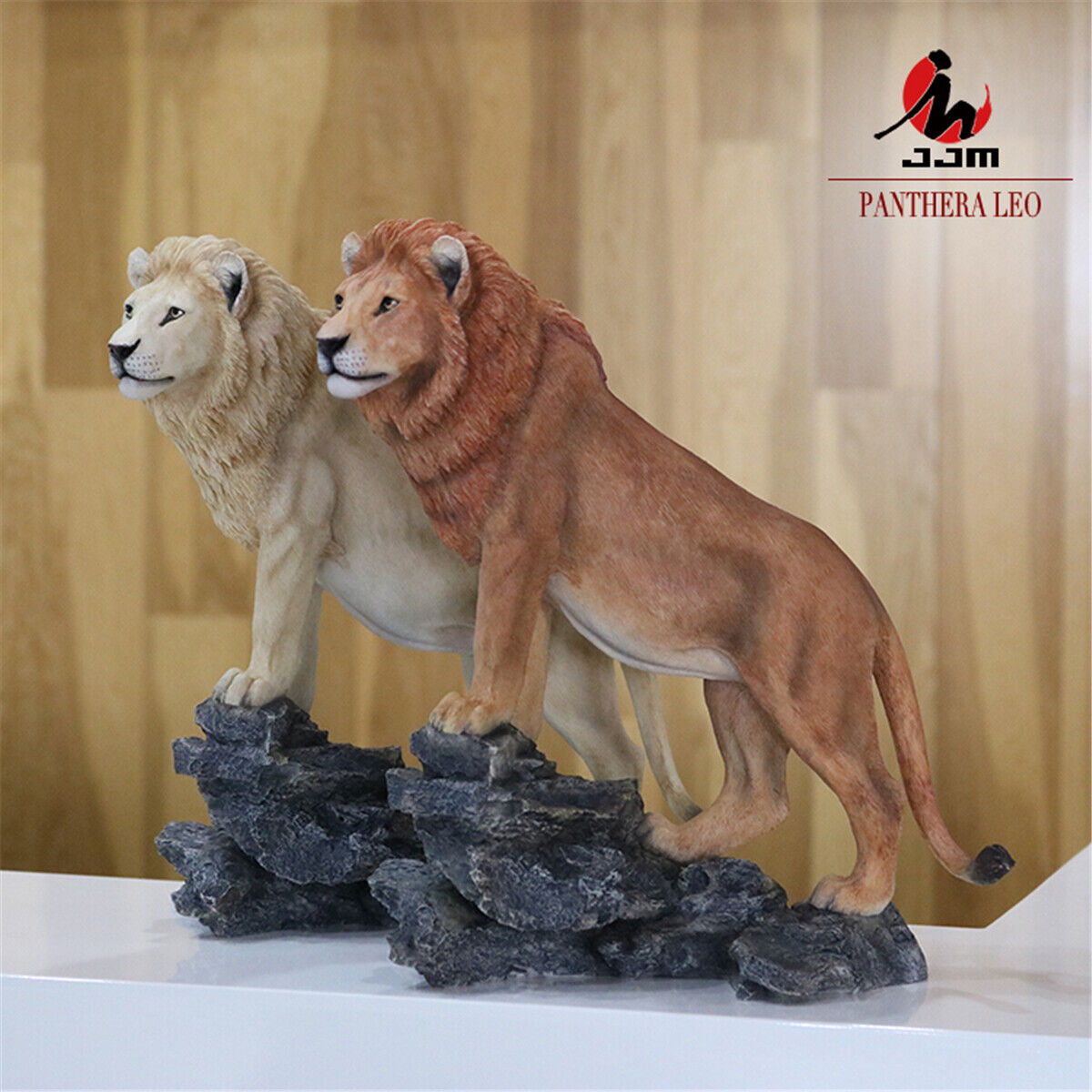 JJM Africa Lion Figure Panthera leo Toy Animal Collector Artware Home Decoration