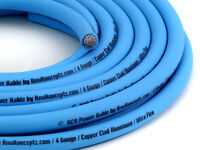 Knukonceptz Kca Neon Kandy Blue Ultra Flex 4 Gauge Amp Power Wire Cable 50 Feet