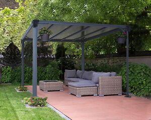 Image Is Loading Gazebo Pergola Outdoor Garden Kit MILANO 3000 Grey