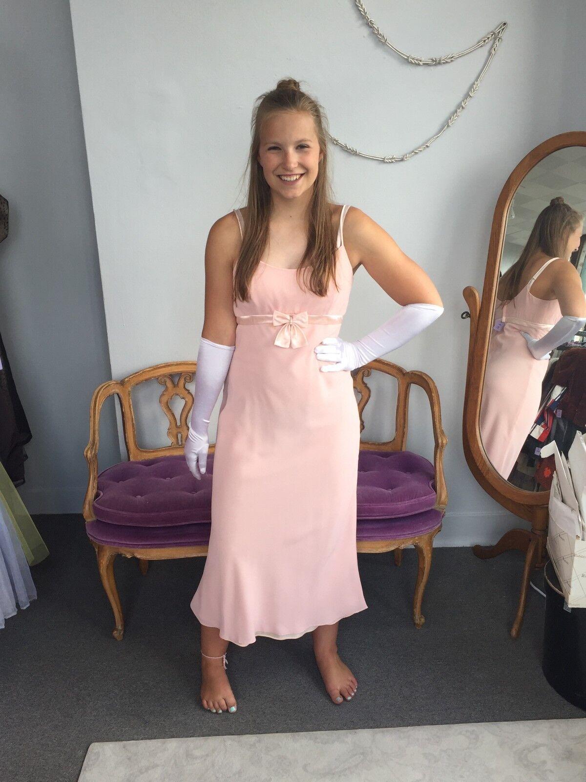 Gunne Sax Pink Formal Sleeveless Dress, Empire Wa… - image 2
