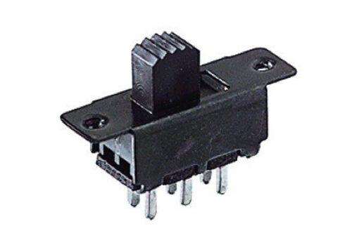Deviatore slitta bipolare 2 posizioni da circuito stampato 30Vcc 0,3A linea 7501