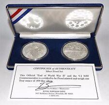 Royal Hawaiian Mint 1995 WWII Commem. Proof Set 2 Troy Oz 999 Fine Silver Rnds