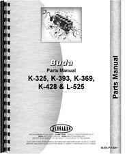 Buda K325 K393 K428 L525 K369 Engine Parts Manual Catalog