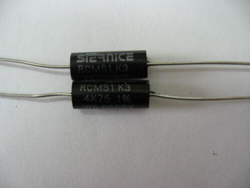 résistance 4.75 kohm 4k75 sfernice W6 RS68Y 0.5W à 70°C 1/% RCMS1 K3 LOT DE 10