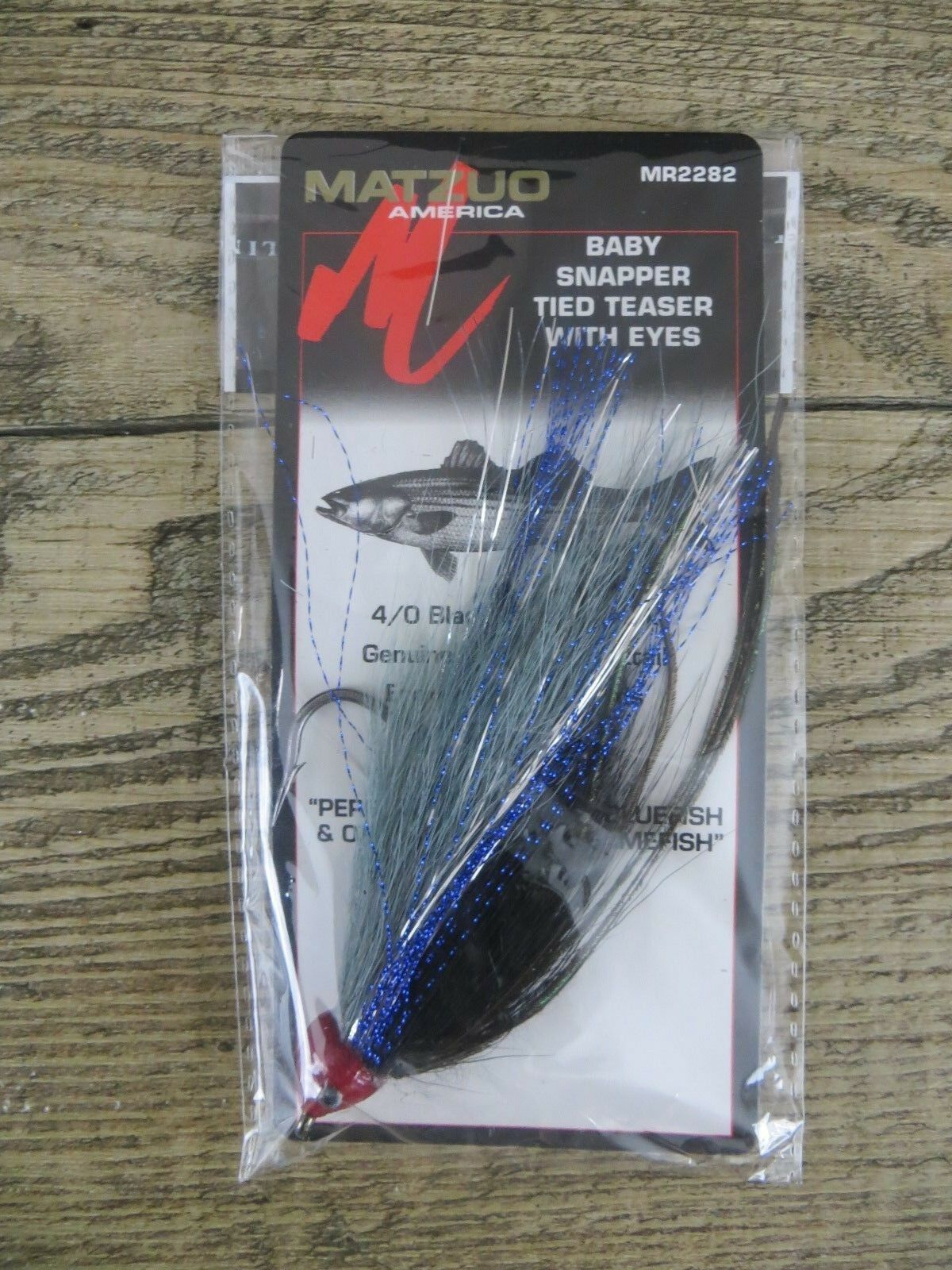 4 Matzuo baby snapper tied teasers with eyes MR2282