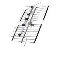 Channel Master 4221hd Uhf 4 Bay Hd Tv Terrestrial Antenna 50 Ft Coax Cable Free