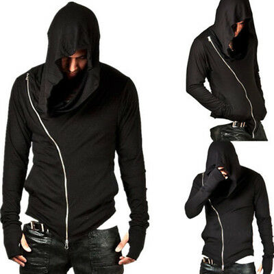 Men Muscle Gym Hoodie Fitness Tank Beast Workout Hooded Hoodie Sweatshirt Black