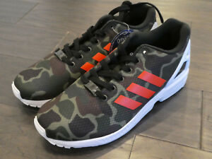 Details about Adidas ZX Flux shoes sneakers trainers new Camo Camoflauge BB2176 size 9 mens