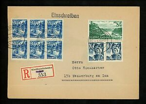 Postal-History-Germany-Sc-6N3-2-6N7-6-6N14-Registered-1948-Kirchheimbolanden