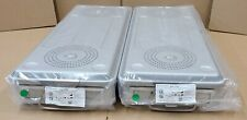 Lot Of 2 Case Medical Steritite Sterilization Container With Lid 27x 11x4 Sc04l