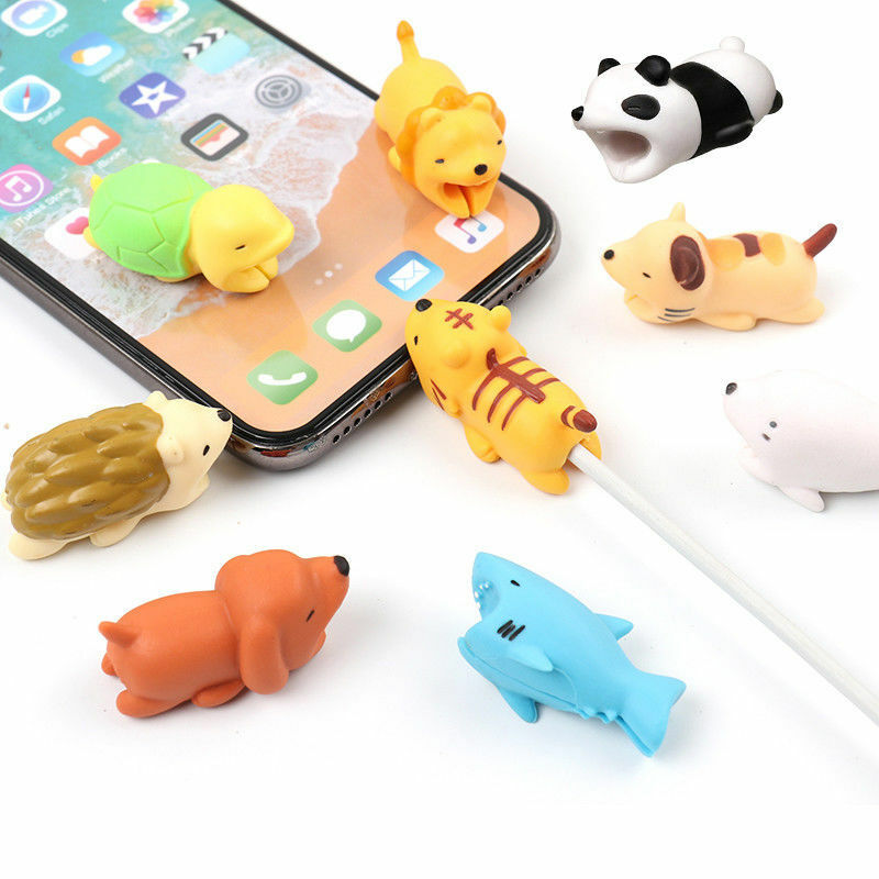 Cartoon Animal Cable Bite Cute Phone Charger Protector Soft