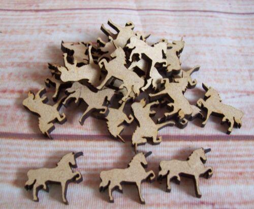 Unicorn 25 off laser cut Craft blank shapes embellishment varied sizes