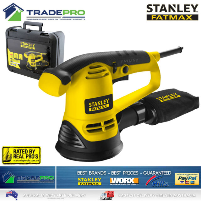 Stanley® Fatmax Sander Random Orbital PRO 480W Electric Wood Paint Metal FME440K