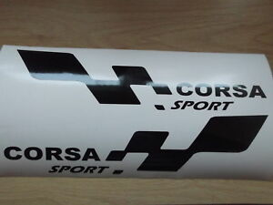 CORSA sport  LARGE car vinyl sticker decal x2