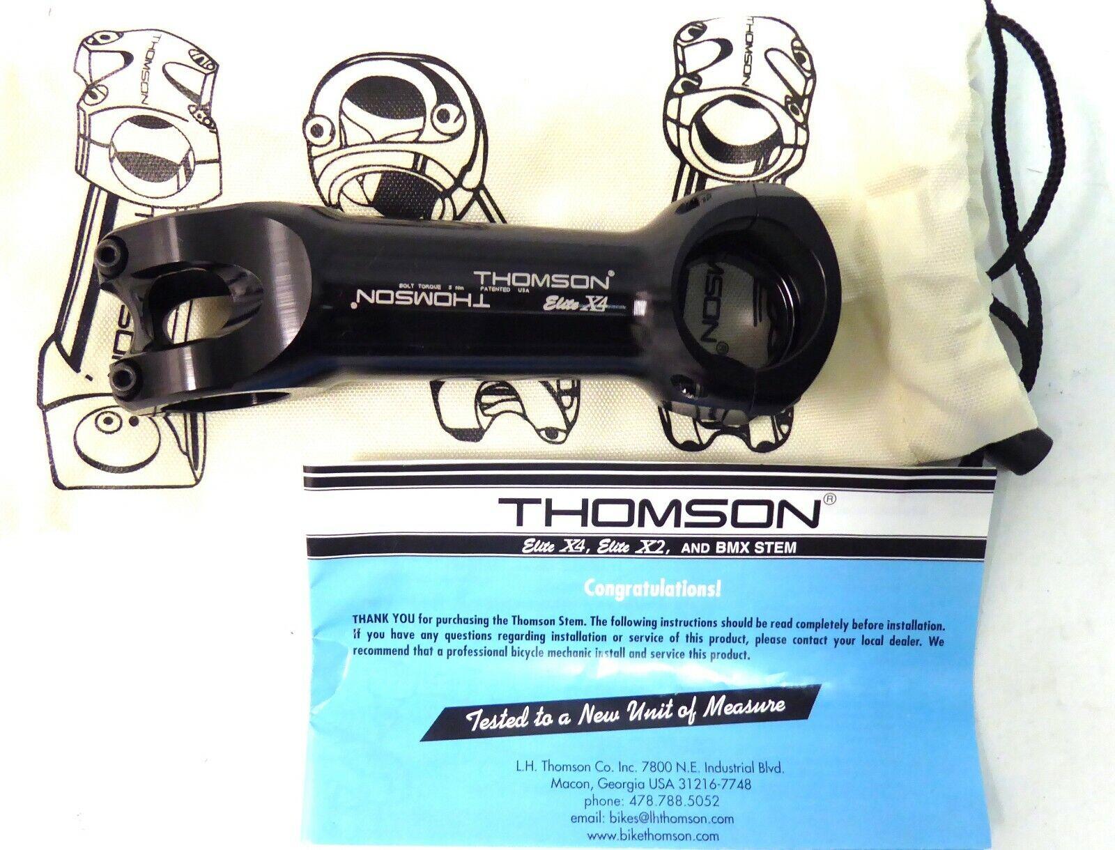 Vástago de montaña Thomson Elite X4 120mm + - 10 grado 31.8