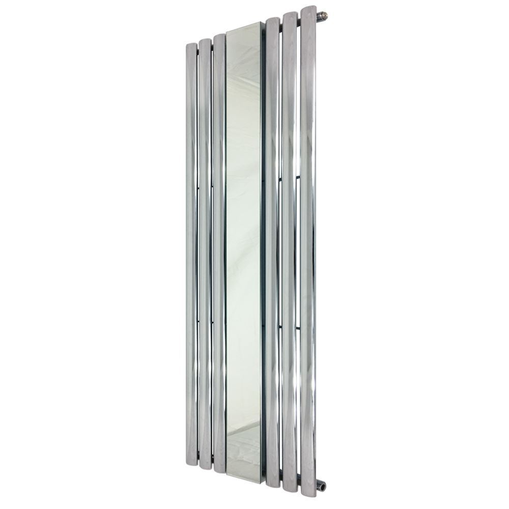 499 mm x 1800 mm  Reine  CHROME OVALE tube vertical Miroir Radiateur 3241 BTU