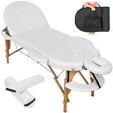 Table de massage cosmetique lit de massage reiki oval blanc + accessoires set 3