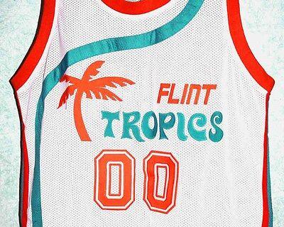 SEMI PRO MOVIE Jersey SCOOTSIE DOUBLEDAY #00 FLINT TROPICS WHITE NEW ANY SIZE